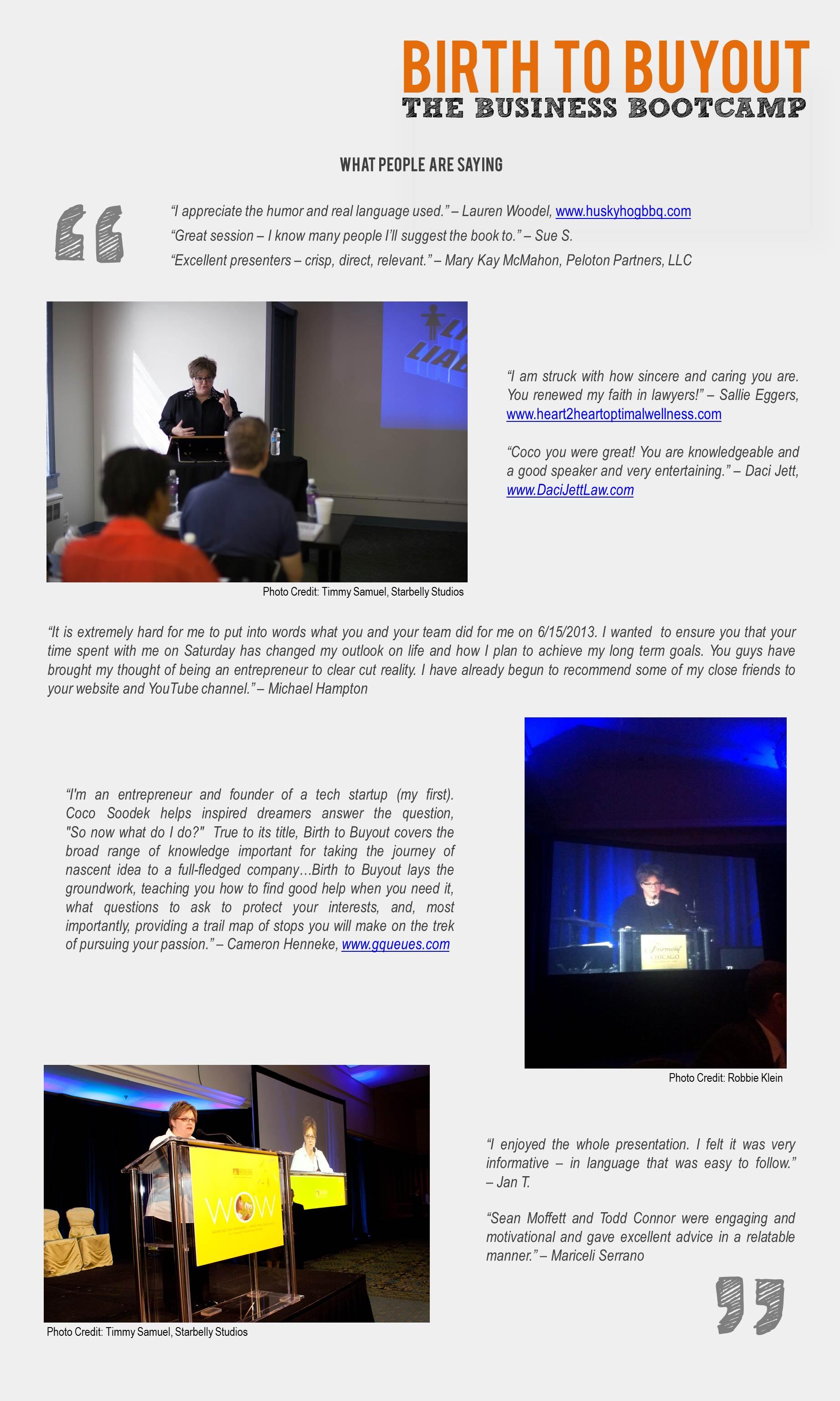 Business Bootcamp Testimonials